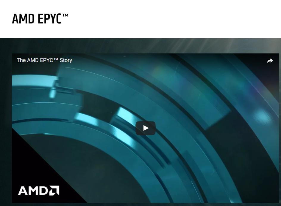 AMD повышает планку производительности серверов, представляя процессоры EPYC для дата-центров