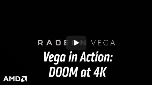 Видео демонстрации работы Radeon Vega в DOOM при разрешении 4K