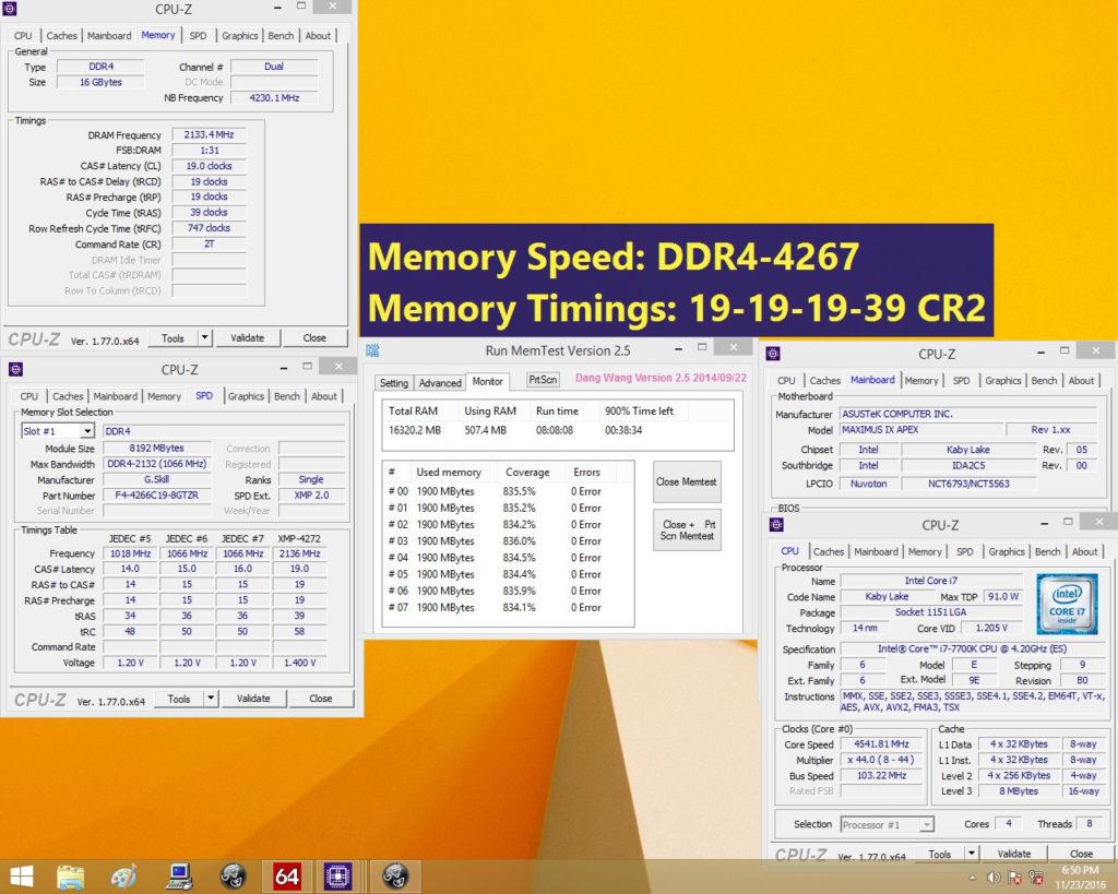 G.SKILL DDR4 Trident Z 4267