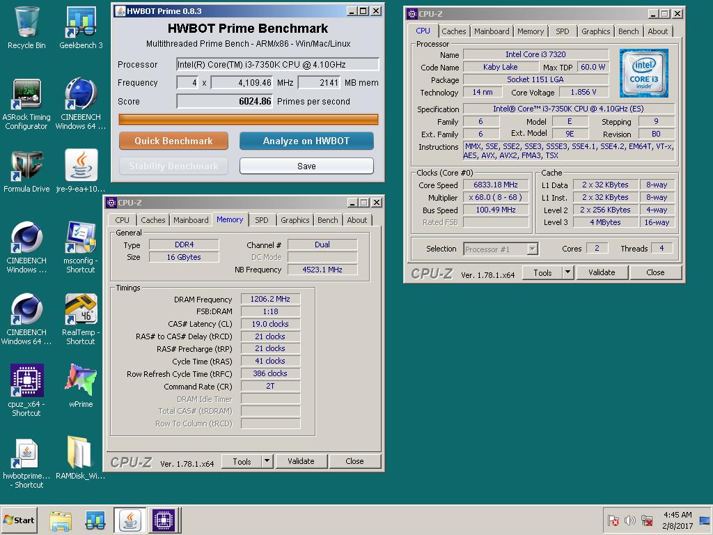 Intel Core i3 7350K обновил четыре рекорда