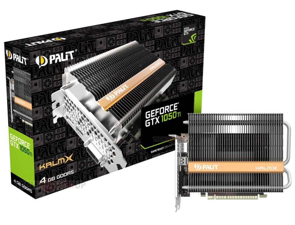 Palit анонсировал версию GeForce GTX 1050 Ti KalmX с пассивной СО