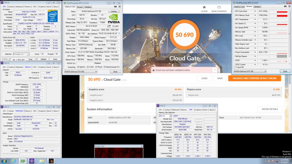 Palit GeForce GTX 780 JetStream Cloud Gate