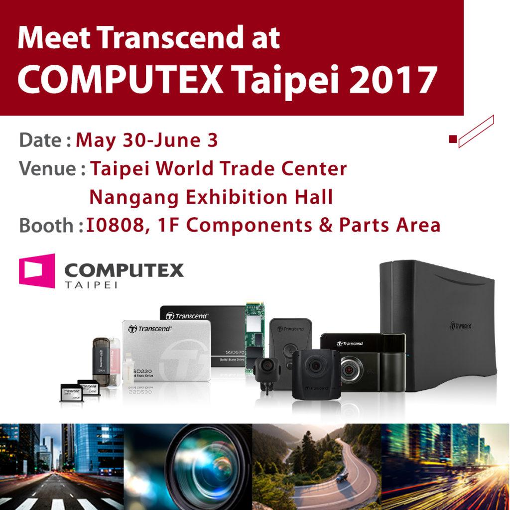 Transcend продемонстрирует твердотельные накопители с интерфейсом PCIe и встроенные решения на выставке COMPUTEX TAIPEI 2017