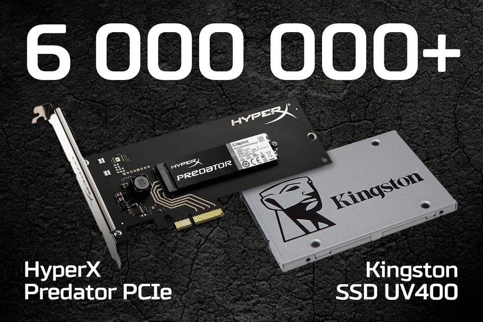 В мире отгружено уже более 6 миллионов SSD Kingston с контроллерами Marvell