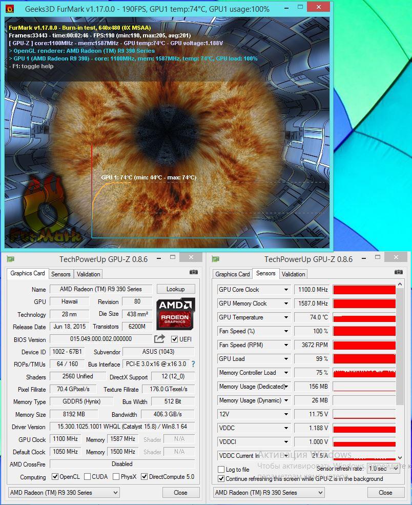 Обзор и тестирование видеокарты ASUS Radeon R9 390 Strix