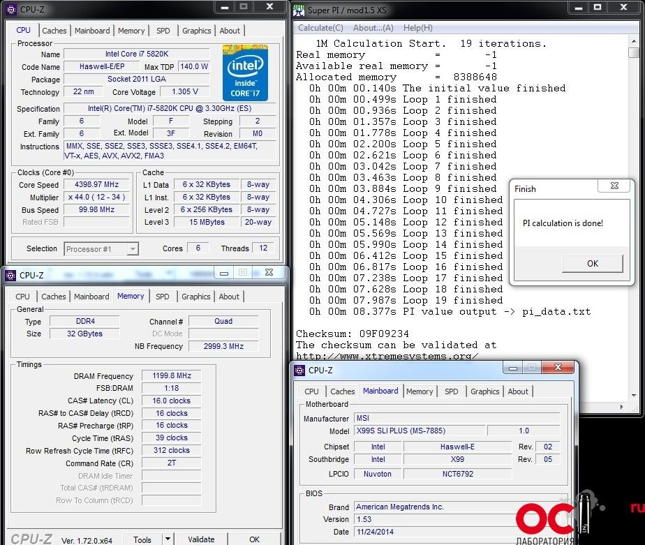 Обзор и тест материнской платы MSI X99S SLI PLUS | OCLab ru