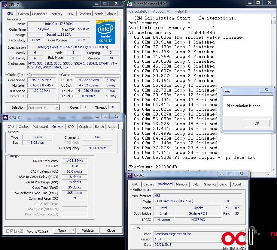 Обзор и тестирование материнской платы MSI Z170A Gaming M7 | OCLab ru