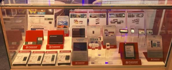 На выставке компания Transcend показала широкий ассортимент промышленной продукции